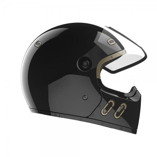QWART Full Face Helmet Phoenix Gloss Carbon Black ECE