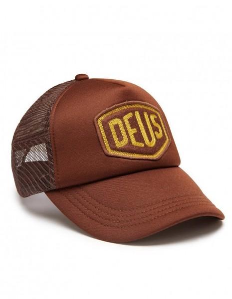 """DEUS EX MACHINA Hat - """"Felt Shield Trucker"""" - brown"""