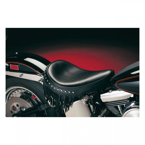 """LEPERA Seat - """"LePera, Sanora solo seat. Smooth with fringes"""" - 00-07 Softail (excl. FXSTD Deuce) with up to 150mm tire, frame mounted (NU)"""