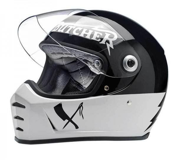 BILTWELL Lane Splitter Rusty Butcher Motorcycle Helmet