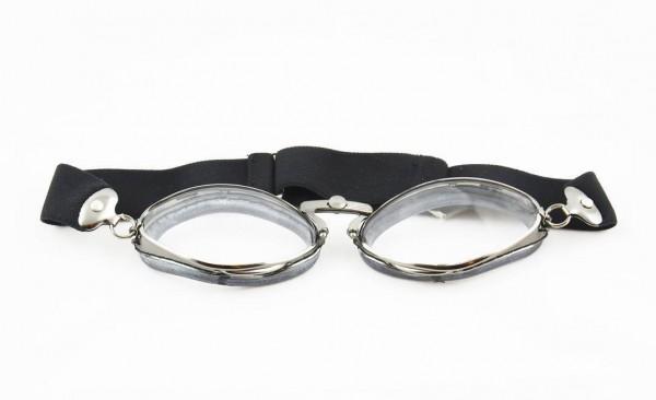 AVIATOR Motorradbrille Mod 4400 in gunmetal und gummi