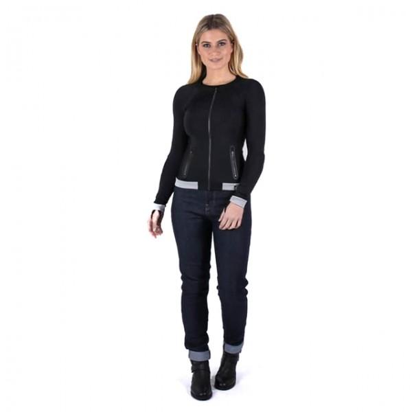 KNOX Womens Baselayer Action Shirt black and grey