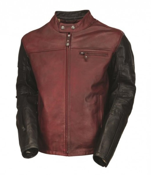 "ROLAND SANDS Jacket - ""Ronin"" - oxblood & black"