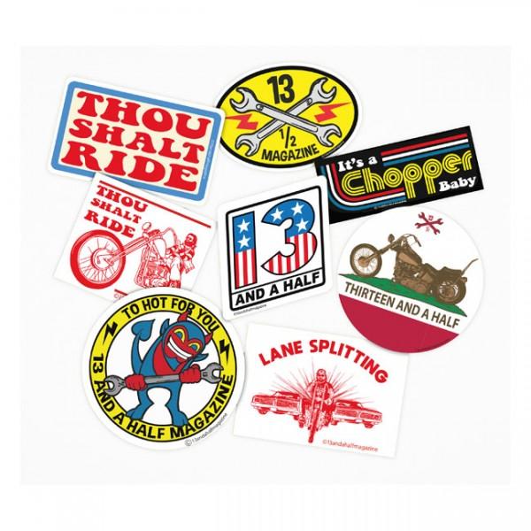 13 1/2 MAGAZINE Motorcycle Sticker Set