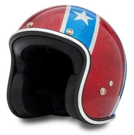 SEVENTIES Superflakes Rebel Flag Motorcycle Helmet