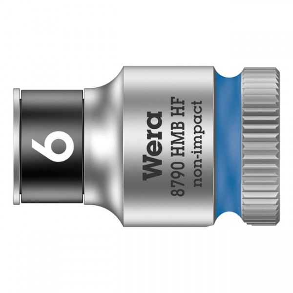 """WERA Tools - """"Zyklop 3/8"""" socket with holding function - Metric 6.0"""" - Hex bolts and nuts"""