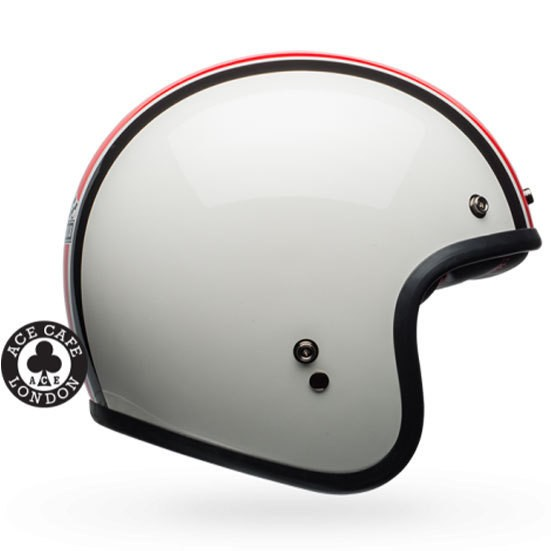 "BELL Custom 500 - ""Ace Cafe Stadium Silver, Red & Black"" - ECE"