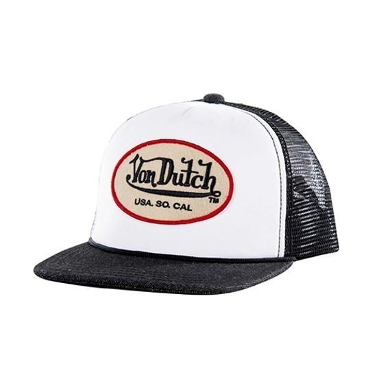 """VON DUTCH Cap - """"Originals"""" - weiss & anthrazit"""