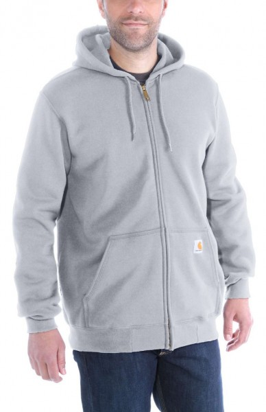 "CARHARTT Hoodie - ""Midweight Hooded Zip-Front Sweatshirt"" - heather grey"