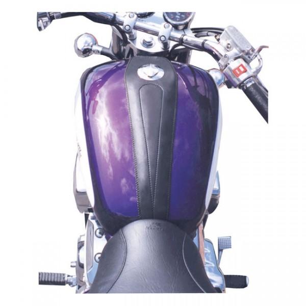 """MUSTANG Seat - """"Mustang tank bib plain black"""" - Honda 95-01 1100 ACE, ACE Tourer, 00-07 1100 Sabre, 97-07 1100 Spirit"""