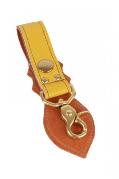 """VANSON LEATHERS Schlüsselanhänger - """"Key Strap"""" - gelb"""