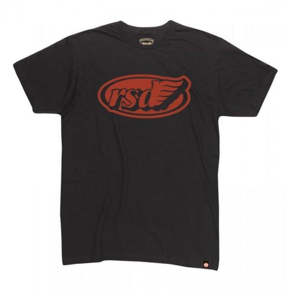 "ROLAND SANDS T-Shirt - ""Cafe Wing"" - schwarz-rot"