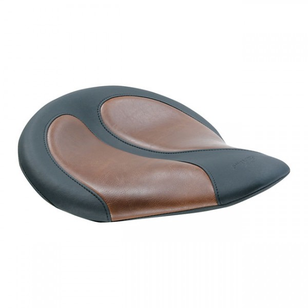 """MUSTANG Seat - """"Mustang, Cyclone solo seat, bown distressed inserts"""" -"""