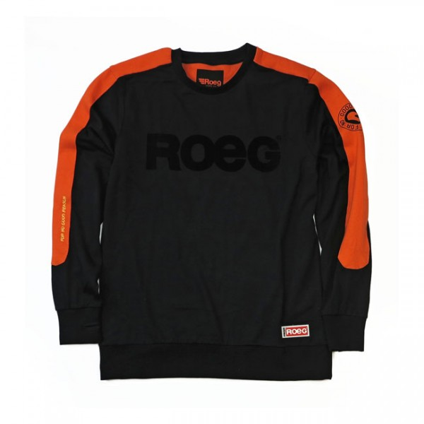 ROEG Randy sweat jersey black orange