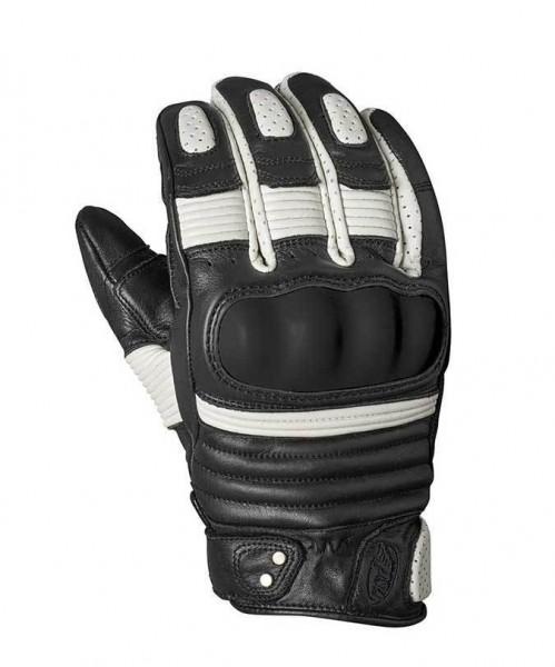 """ROLAND SANDS Gloves - """"Berlin"""" - black & white"""