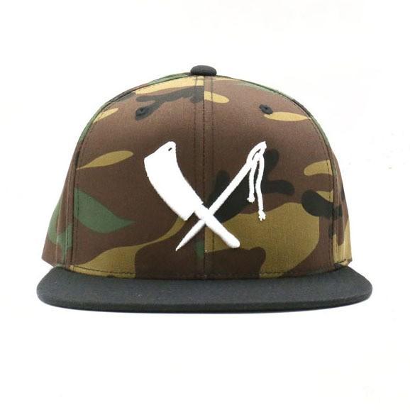 "RUSTY BUTCHER Hat - ""Camo Logo"" - camouflage"