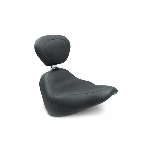 "MUSTANG Sitz - ""Mustang, Wide Tripper solo seat w/rider backrest"" - 18-20 Softail FXBB Street Bob"