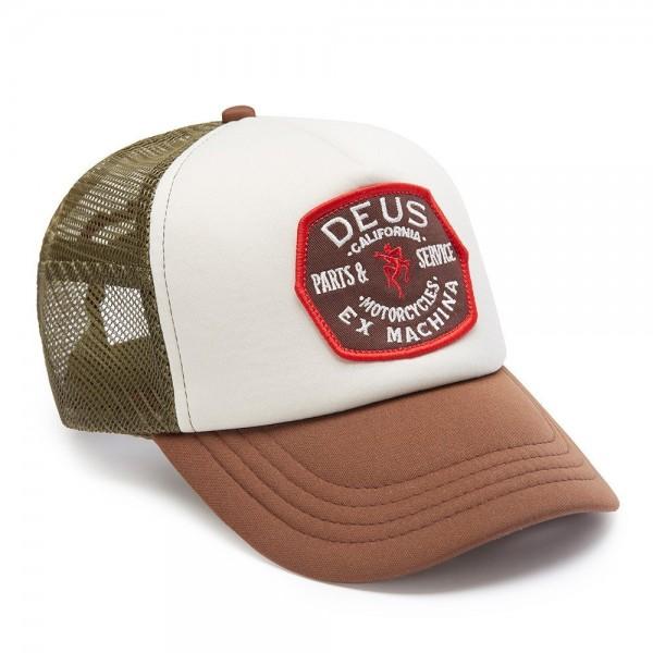 """DEUS EX MACHINA Hat - """"Quebec Trucker"""" - brown, olive & off-white"""