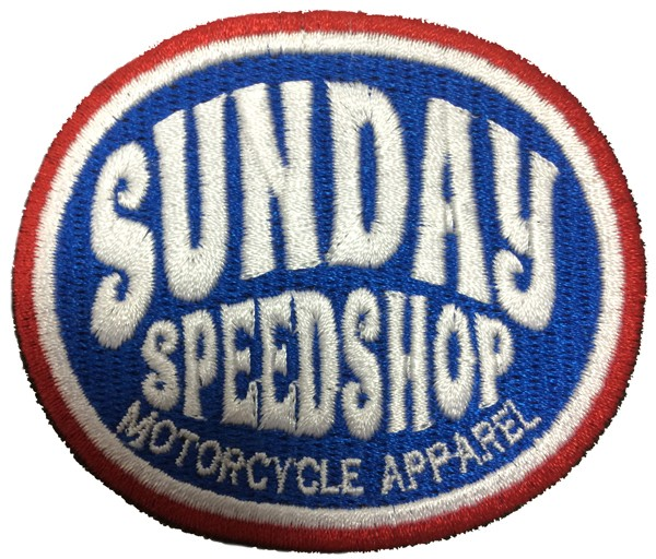 "SUNDAY SPEEDSHOP Patch - ""Cycle Blue"""