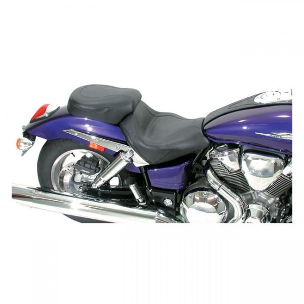 """MUSTANG Seat - """"Mustang 2-p vintage sport touring seat plain black"""" - Honda: 02-08 VTX1800C"""
