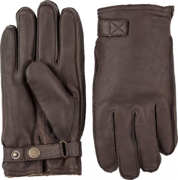 """HESTRA Gloves - """"Deerskin Wool Terry"""" - chestnut"""