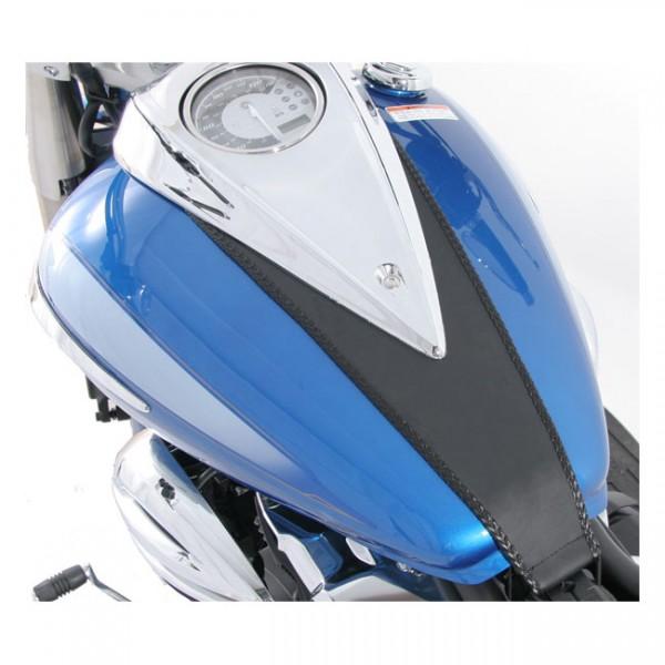 "MUSTANG Seat - ""Mustang tank bib plain black"" - Yamaha 09-17 V-Star 950, 09-17 V-Star 950 Tourer"