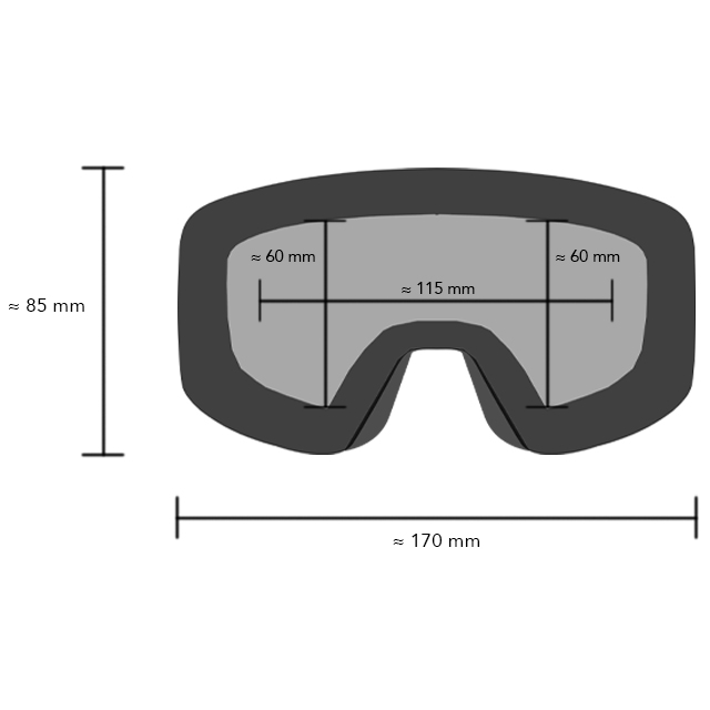 QWART Leismo goggle dimensions