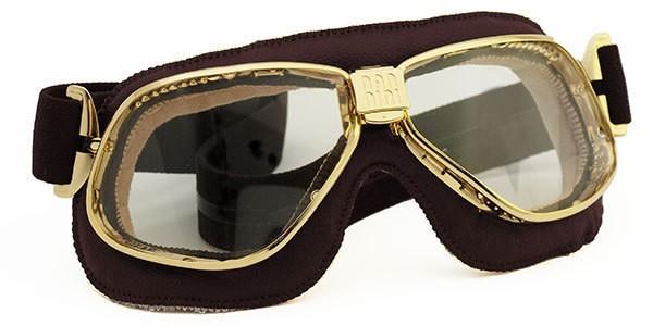 "NANNINI - ""Cruiser"" - gold-transparent mit braunem Leder"