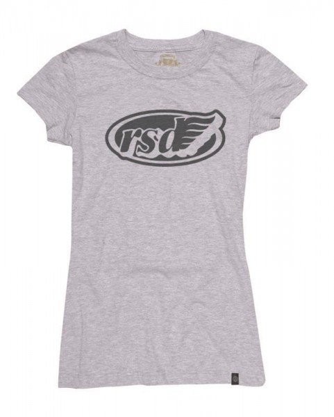 "ROLAND SANDS Women's T-Shirt - ""WM Cafe Wing"" - platinum-grey"