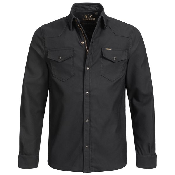Rokker Black Jack Rider Shirt in black