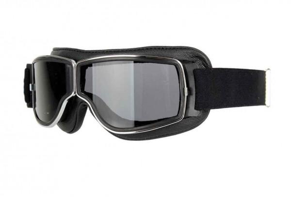 AVIATOR Vintage Brille T2 schwarz chrom dunkelgrau