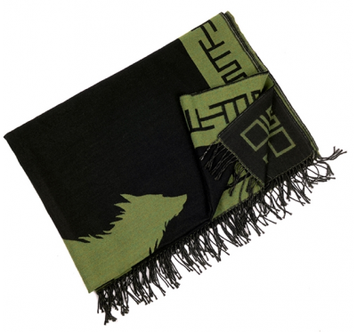 EL SOLITARIO Outlaw Blanket Schwarz Oliv
