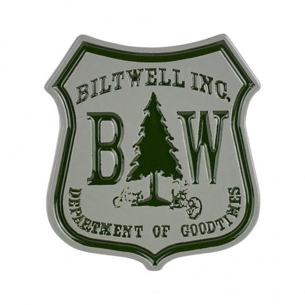 "BILTWELL Anstecker Pin - ""Good Times Green/ Grey"""