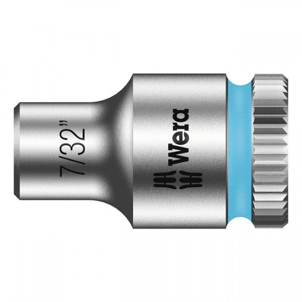 """WERA Tools - """"Zyklop 1/4"""" socket - US sizes 7/32"""""""" - Hex bolts and nuts"""