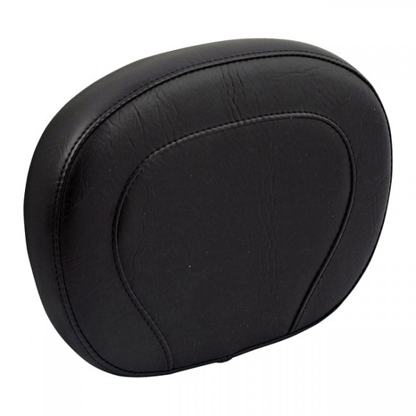 """MUSTANG Sitz - """"Mustang, setback sissy bar pad. Black"""" - All H-D with OEM H-D Medallion style sissy"""