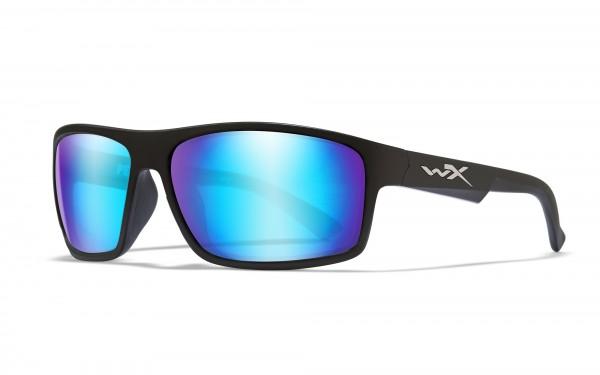 Wiley X Brille Peak Blau Verspiegelt