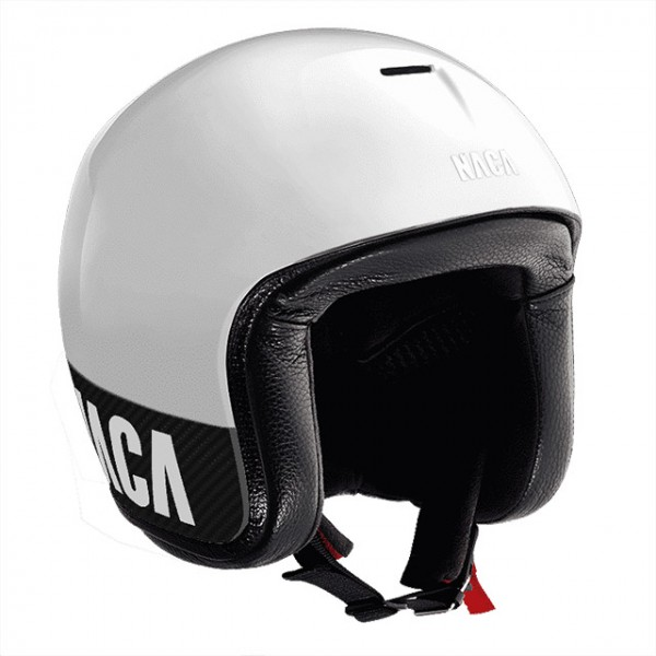 NACA open face helmet Riviera made from Carbon in white