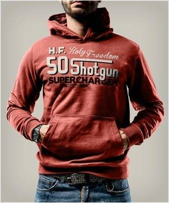 "HOLY FREEDOM Hoodie - ""Shotgun Red"" - rot"