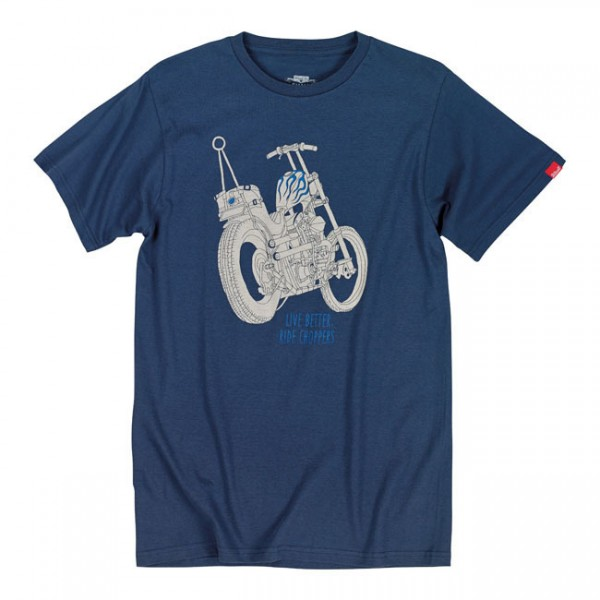 "BILTWELL T-Shirt - ""Live Better"" - blue"