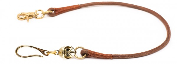 """SEVENTIES Lanyard with Keychain - """"MX Full Face"""" - brown"""
