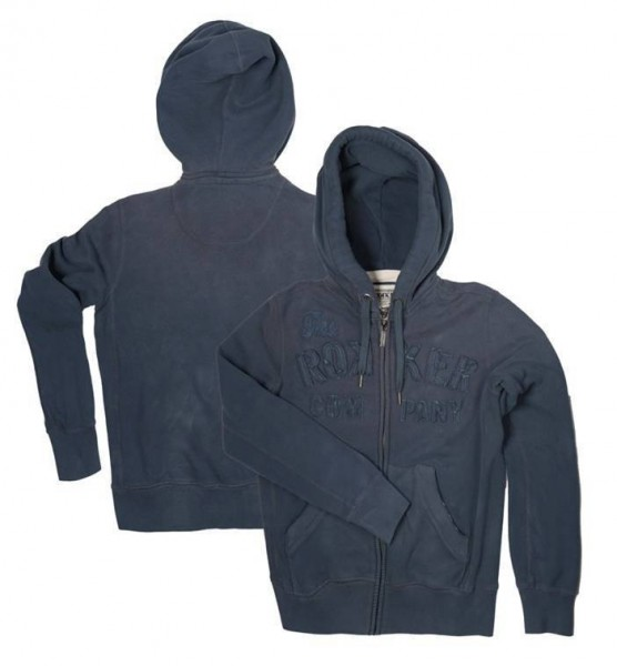 "ROKKER Men's Hoodie - ""TRC Zipper Dark Navy"" - blue"
