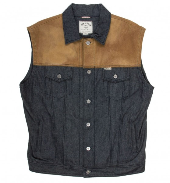 "IRON & RESIN Vest - ""Rambler"" - indigo"