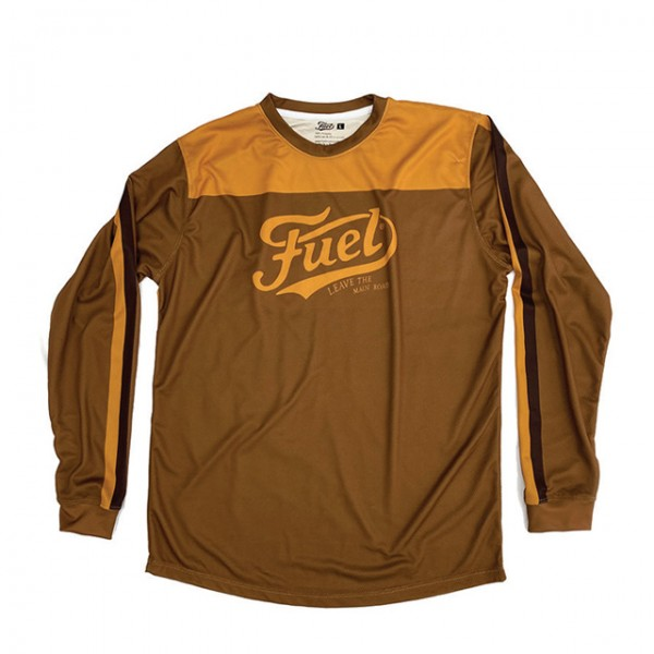 FUEL Moto Jersey Marathon in brown and yellow