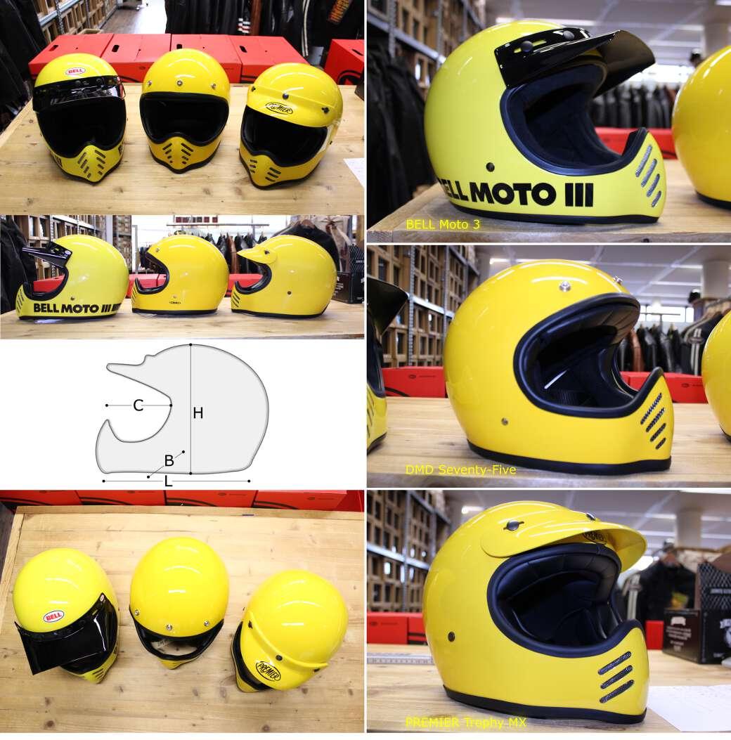 Visiera cross Biltwell moto visor yellow cafè racer scrambler off road