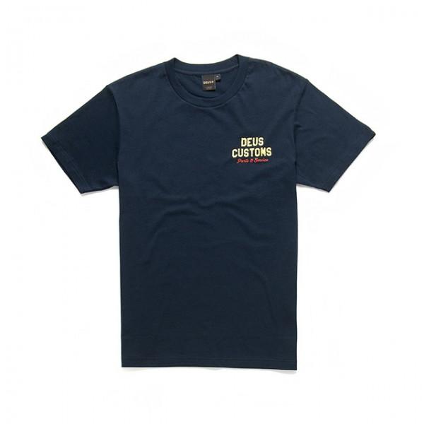 DEUS EX MACHINA T-Shirt Bush Mechanics Tee in Blau