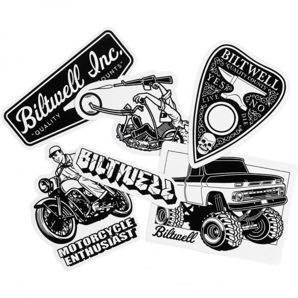 """BILTWELL Stickers - """"Giant Sticker Pack"""" - 6 pieces"""