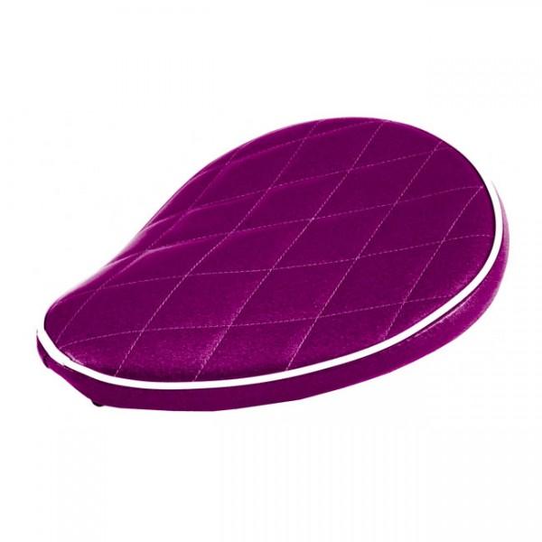 """LEPERA Sitz - """"Spring mounted Metalflake solo seat. Plum Purple"""" - MULTIFIT"""
