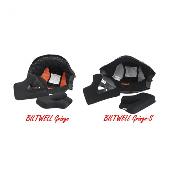 BILTWELL Gringo and Gringo S DOT cheek pads and liner
