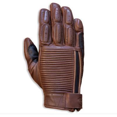 """ROLAND SANDS Gloves - """"Dezel"""" - tobacco"""