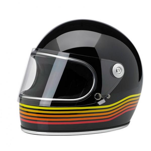 "BILTWELL - ""Gringo-S LE Spectrum"" - black & orange - with visor - DOT"